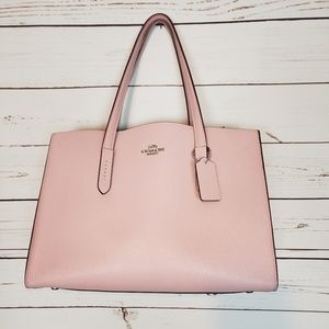 Coach Charlie Pebbled Leather Carryall Tote
